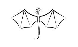 Little dragon wings illustration Stock Images