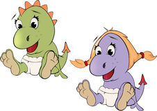 Little dragons. Cartoon Royalty Free Stock Photos