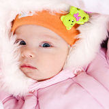 Little dressed infant Stock Photo