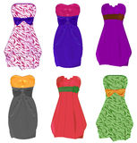 Little dresses. Set of isolated little dresses Royalty Free Stock Photos