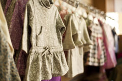 Little dresses on hanger Stock Photo