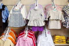 Little dresses on hanger Royalty Free Stock Image