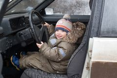 Little driver Royalty Free Stock Images