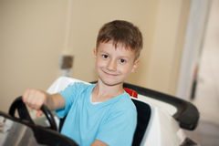 Little driver boy Royalty Free Stock Images
