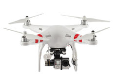 Little drone isolated over white royalty free stock image