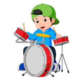 Little drummer cartoon. Illustration of little drummer cartoon Royalty Free Stock Photography