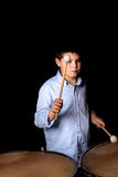 Little drummer with drumsticks Stock Photography