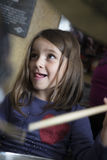 Little Drummer Girl Stock Photo