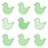 Little Duckies, Pastel Green Royalty Free Stock Photos