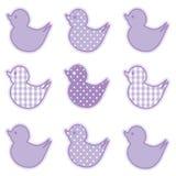 Little Duckies, Pastel Lavender Royalty Free Stock Image
