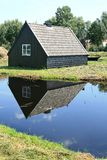 Little dutch wooden barn in a peat area Stock Photos