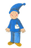 Little Dwarf Postman Stock Images