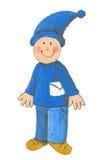 Little Dwarf Postman Stock Images