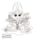 Little Easter Bunny. Coloring book Stock Photo