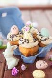 Little easter cupcakes Stock Photos