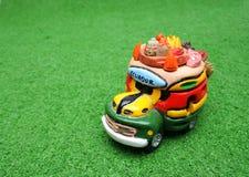Little ecuadorian souvenir. Handcraft souvenir ecuadorian car stock photography