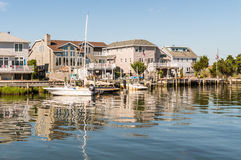 Little Egg Harbor, Long Beach Island, NJ, USA. Long Beach Island, NJ. USA - JULY 24, 2016. Houses on Little Egg Harbor, New Jersey were repaired after Hurricane Stock Images