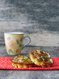 Little egg muffin omelets with goat cheese Royalty Free Stock Images