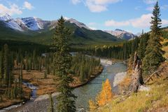 Little Elbow River Valley, Alberta, Canada Stock Photos