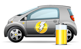 Little electric car stock illustration