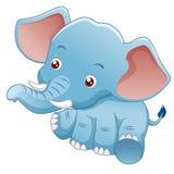 Little Elephant. Illustration Little Elephant Vector on white background Royalty Free Stock Images