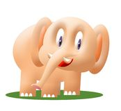 Little elephant. Cute little elephant computer illustration Royalty Free Stock Photo