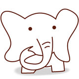 Little elephant. The little elephant, illustration Royalty Free Stock Images