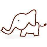 A little elephant. The little elephant, illustration Royalty Free Stock Photography