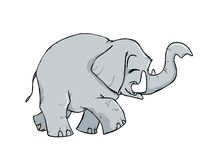 Little elephant cartoon. Little cute cartoon elephant smiling Royalty Free Stock Image