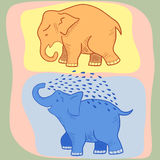 Little elephant. Picture of a funny cartoon elephant Royalty Free Stock Image