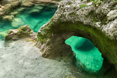 Little Elephant rock formation in Mostnica Gorge, Slovenia Royalty Free Stock Photo