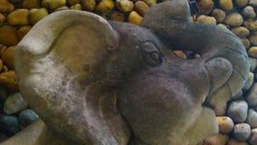 Little elephant sculpturr texture Stock Image