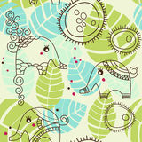 Little elephants garden Stock Photography