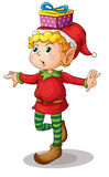 Little elf. Illustration of a christmas elf Stock Image