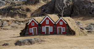 Little elf houses in Djupivogur on Iceland Stock Images