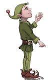 Little elf pointing vector illustration
