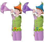 Little elves Stock Images