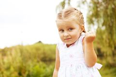 Little emotional girl Royalty Free Stock Photos
