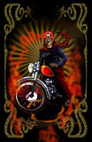 Little engine3. Image illustration a BIKER COMMUNITY for idea PATCH and Tee Shirt, clothing, apparel bikers design Stock Image