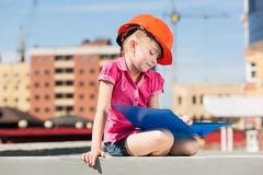 Little engineer Royalty Free Stock Photo
