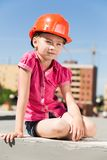 Little engineer Royalty Free Stock Images