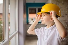Little engineer Royalty Free Stock Photos