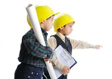 Little engineers Royalty Free Stock Photography