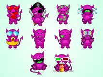Little evil. Emotion evil fun hell icon little web Royalty Free Stock Photos