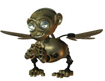 Little evil monkey made of metal Royalty Free Stock Image