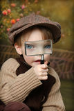Little Explorer. Little Boy Playing Explorer, cute fun photo royalty free stock photography