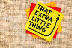 That little extra thing Stock Photos