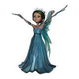 Little Faery. 3D digital render of a little fantasy faery isolated on white background Royalty Free Stock Photography