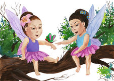 Little fairies Stock Images