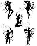 Little fairy. Five beautiful little fairy vector illustration Stock Images